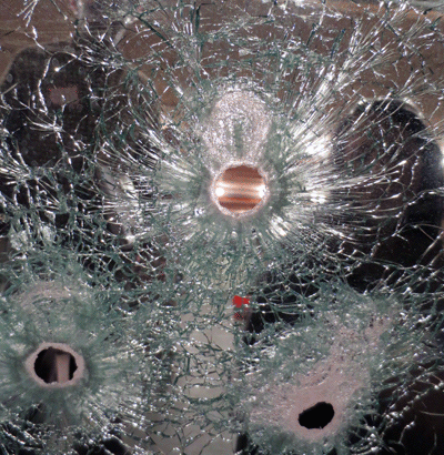 Shooting Incident Reconstruction - Bullet Holes In Glass
