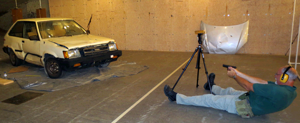 Shooting Incident Reconstruction - Shooting A Car On The Range