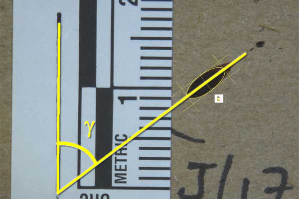Bloodstain Example - Directional Angle